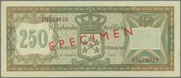 Netherlands Antilles / Niederländische Antillen: Bank Van De Nederlandse Antillen, Set With 25, 50, - Antille Olandesi (...-1986)