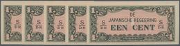 Netherlands Indies / Niederländisch Indien: De Japansche Regeering Set With 10 Banknotes 1 Cent ND(1 - Indie Olandesi