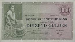 Netherlands / Niederlande: De Nederlandsche Bank 1000 Gulden 1938, P.48, Great Condition Especially - Paesi Bassi