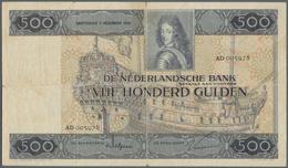 Netherlands / Niederlande: 500 Gulden 1930, P.52, Very Popular Note In Still Nice Condition With Sma - Paesi Bassi
