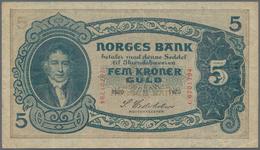 Norway / Norwegen: Norges Bank, 5 Kroner 1920, P.7b, Great Original Shape With A Few Folds And Minor - Noorwegen