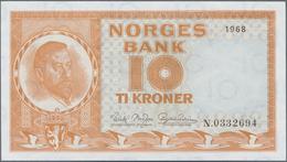 Norway / Norwegen: Lot With 13 Banknotes 10 Kroner P.31d,e,f, Comprising 3x 10 Kroner 1968 (VF+ To U - Noorwegen