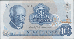 Norway / Norwegen: Huge Lot With 32 Banknotes 10 Kroner P.36b,c, Comprising 4x 1973 (VF To AUNC), 3x - Noorwegen