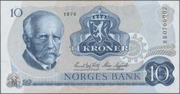 Norway / Norwegen: Consecutive Numbered Pair Of The 10 Kroner 1978, Signatures: Wold & Sagård, P.36c - Noorwegen