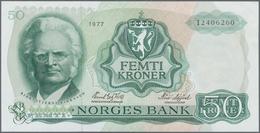 Norway / Norwegen: Nice Lot With 4 Banknotes, With 50 Kroner 1977 P.37d (aUNC), 100 Kroner 1982 P.41 - Noorwegen