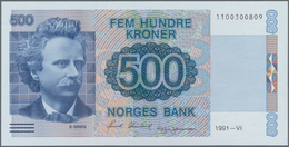Norway / Norwegen: 500 Kroner 1991 With Signatures: Skånland & Johansen, P.44a In Perfect UNC Condit - Noorwegen