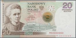 Poland / Polen: Narodowy Bank Polski, Specimen / Wzor 20 Zlotych 2011 Marie Curie Commemorative Issu - Poland