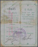 Poland / Polen: Die Stadtkasse Von Bialystok, 10 Mark 6 Rubli 1915, Stained Paper With Margin Splits - Poland