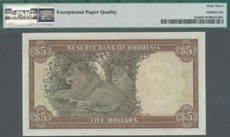 Rhodesia / Rhodesien: Reserve Bank Of Rhodesia 5 Dollars October 16th 1972, P.32a, Great Original Sh - Rhodesia