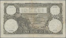 Romania / Rumänien: Banca Naţională A României 100 Lei March 31st 1931, P.33, Nice Original Shape Wi - Romania
