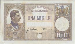 Romania / Rumänien: Banca Naţională A României 1000 Lei 1934, P.37, Very Popular Note In Nice Condit - Romania