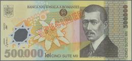 Romania / Rumänien: Pair With 10.000 Lei (20)00 And 500.000 Lei (20)00 SPECIMEN, P.112s, 115s, Both - Romania