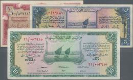 Saudi Arabia  / Saudi Arabien: Saudi Arabian Monetary Agency Set With 3 Banknotes Of The AH1373-1375 - Saudi Arabia
