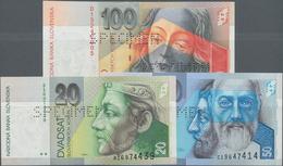 Slovakia / Slovakei: Národná Banka Slovenska, Set With 3 Specimens Of The First Issue 1993 With 20, - Slovacchia