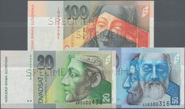 Slovakia / Slovakei: Národná Banka Slovenska, Set With 3 Specimens Of The 1995/2001 Series With 20, - Slovacchia