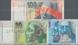 Slovakia / Slovakei: Národná Banka Slovenska, Set With 3 Specimens Of The 1999/2004 Series With 20, - Slovacchia
