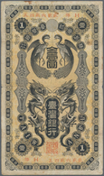 Taiwan: Bank Of Taiwan 1 Yen ND(1904), P.1911, Small Margin Splits And Tiny Hole At Upper Margin, Co - Taiwan