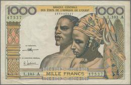 """West African States / West-Afrikanische Staaten: West African States 1000 Francs ND, Letter """"A"""" = IV - West African States"""