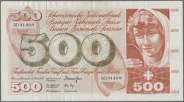 Switzerland / Schweiz: Schweizerische Nationalbank, Very Nice Pair With 500 Franken 1973 P.51k (F+) - Switzerland