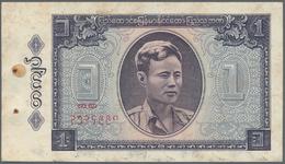 Burma / Myanmar / Birma: 1965/1987 (ca.), Ex Pick 52-65, Quantity Lot With 328 Banknotes In Good To - Myanmar