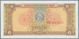 Cambodia / Kambodscha: 1956/2007 (ca.), Ex Pick 4-58, Quantity Lot With 2695 Banknotes In Good To Mi - Cambogia