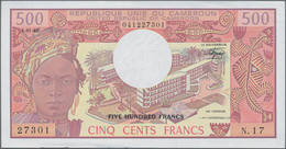 Cameroon / Kamerun: Original Bundle With 100 Banknotes 500 Francs 1983, P.15c In Perfect UNC Conditi - Cameroon