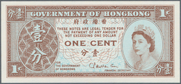 Hong Kong: Brick With 1000 Pcs. 1 Cent ND(1961-95), P.325b In UNC Condition. (1000 Pcs.) - Hongkong