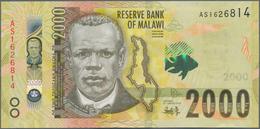 Malawi: Giant Lot With 3498 Banknotes Comprising 100x 5 Kwacha P.36a, 1206x 20 Kwacha P.57, 63a,b,c, - Malawi