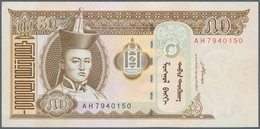 Mongolia / Mongolei: 1993/2008 (ca.), Ex Pick 49-65, Quantity Lot With 1036 Banknotes In Good To Mix - Mongolia