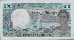 New Hebrides / Neue Hebriden: Lot With 90 Banknotes 500 Francs ND(1970-81), P.19c In Perfect UNC Con - Nieuwe-Hebriden