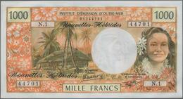 New Hebrides / Neue Hebriden: Lot With 85 Banknotes 1000 Francs ND(1970-81), P.20c In Perfect UNC Co - Nieuwe-Hebriden