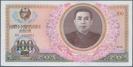 North Korea / Banknoten: 5 Bundles 100 Won 1978, P.22 In UNC Condition. (500 Banknotes) - Billets