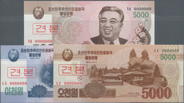 North Korea / Banknoten: Set With 15 Specimens Comprising 5x 2000 Won 2008 P.65s, 5x 5000 Won 2008 P - Billets