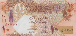 Qatar: Lot With 484 Banknotes Comprising 32x 1 Riyal P.13, 83x 1 Riyal P.20, 185x 1 Riyal P.28, 84x - Qatar