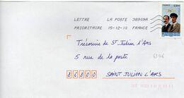 N° 4506 Y. Et T. Oblitération Toshiba TSC 1000 38909A (Migné Auxances Poitiers PIC) Flamme Muette 15/12/2010 - Marcofilia (sobres)