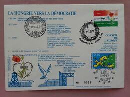 UNGHERIA - Cooperazione Ungheria-Francia 1989 (tiratura 400 Pezzi) + Spese Postali - FDC