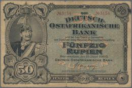 Deutschland - Kolonien: Die Deutsch-Ostafrikanische Bank 50 Rupien 1905, Ro.902a, Kleine Einrisse Am - [12] Kolonies & Buitenlandse Banken