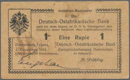 Deutschland - Kolonien: Riesiger Posten Mit 137 Banknoten 1 Rupie DOA Der Ausgaben 1915/16, Bereits - [12] Kolonies & Buitenlandse Banken