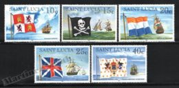 St Lucia - Ste Lucie 1996 Yvert 1042-46, Definitive Set, Ships. Flags & Vessels - MNH - St.Lucia (1979-...)