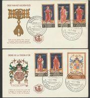 FDC (1960) - Ordre De La Toison D'or çàd N°1102/1107 Sur 2 Enveloppes Illustrées (FR / NL) + Cachet Spécial Bibliothèque - 1951-60