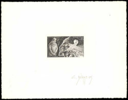 MONACO Epreuves  686 Epreuve D'artiste En Noir, Signée Durrens: Dante Alighieri, Le Purgatoire. - Otros