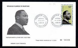 Mauritanie A 082 Fdc Martin Luther King, Apôtre De La Paix, USA - Martin Luther King