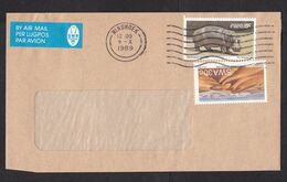 South West Africa SWA: Airmail Cover, 1989, 2 Stamps, Hippo Animal, Sand Dunes, Dessert, Air Label (minor Damage) - South West Africa (1923-1990)