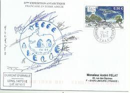 YT 554 - Ile Du Lys - Dumont D'Urville - Terre Adélie - 26/02/2011 - Briefe U. Dokumente