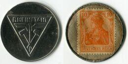 N93-0640 - Timbre-monnaie Rheinstahl - 10 Pfennig - Kapselgeld - Encased Stamp - Monetari/ Di Necessità
