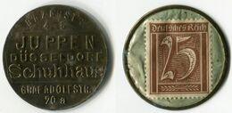 N93-0641 - Timbre-monnaie Juppen - 25 Pfennig - Kapselgeld - Encased Stamp - Monetari/ Di Necessità