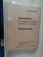 Heft Dienstanweisung  Des Reichsluftzschutzbundes Frankfurt/Main 1937 - Boeken, Tijdschriften & Catalogi