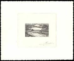 NOUVELLE-CALEDONIE Epreuves  75 Epreuve D'artiste En Noir, Signée Pheulpin: Ile Des Pins. - Sin Dentar, Pruebas De Impresión Y Variedades
