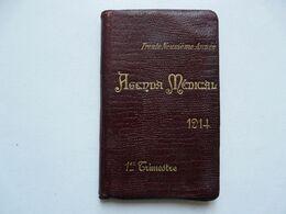 AGENDA MEDICAL 1914 : Document Historique - La Vie Au Quotidien D'un élève De 17 Ans - Books, Magazines, Comics