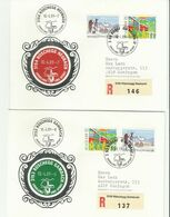 śchweiz R-cv*2 1989 3153 3154 - Postmark Collection